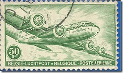 belgie - luchtpost belgique - poste aerienne  50 f 1
