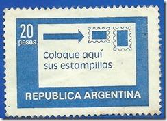 Republica Argentina - Coloque Aqui sus Estampillas 1