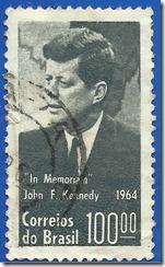 Correios do Brasil in Memorian John F. Kennedy 1964 1