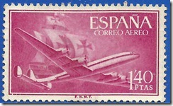 España Superconstelation y nao (Santa María) 1955 1