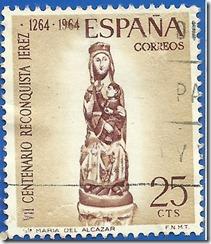 España VII Centenario de la Reconquista de Jerez Virgen del Alcázar 1