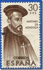 Espana VII Serie Forjadores de América Antonio de Mendoza 1966 1