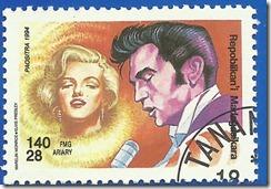 Republica de Madagascar Congreso del UPU de Seúl  PHilaKorea 94 Exposición Filatelica Internacinal El Mundo de la Música retratos Multicolor Marylin Monroe-Elvis Presley 1994 1