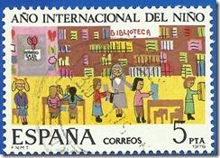 España - Ano internacional do neno A Biblioteca  Debuxo infantil1
