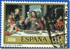España Día do Selo Juan de Juanes IV Centenario de Su Muerte Santa Cena1