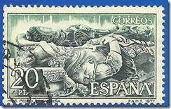 España - Monasterio de San Pedro de Cardeña Sepulcro del Cid y Doña Jimena Verde esmeralda y gris verdoso1