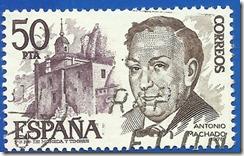 España - Personajes Españoles Antonio Machado violeta y castaño1
