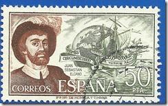 España -Personajes Españoles Juan Sebastián el Cano Pizarra y sepia1