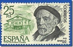 España - Personajes Españoles Pío Baroja verde y pizarra1