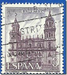 España - Serie Turística Catedral de Jaén violeta y azul violeta1