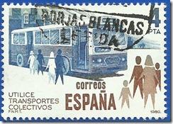 España - Utilice Transportes colectivos Autobús1980 1