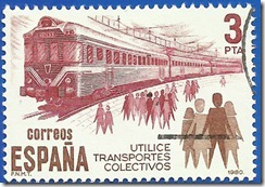 España - Utilice Transportes colectivos Ferrocarril 1980 1