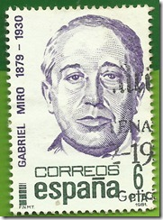 España - Centenarios Gabriel Miró 1879-1930 1981 1