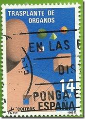 España - Transplante de Organos 1982 Alegoría dos transplantes 1