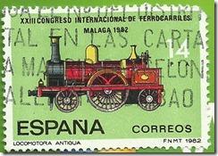 España - XXIII Congreso Internacional de Ferrocarriles Locomotora Antigua 111 1