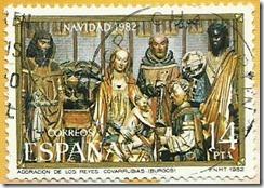 Espanha- Navidad Adoración dos Reises Magos 1982