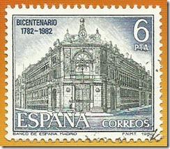 Espanha - Paisaxes e Monumentos Facha do Banco de Espanha madrid 1982