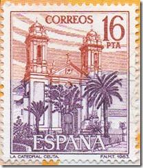 Espanha - Paisaxes e Catedral de Ceuta 1983 1