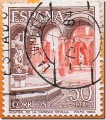 Espanha - Paisaxes e Patio Interior do Hospital da Caridade, Sevillla 1983 1