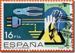 Espanha -  Prevencion de accidentes Laborais Risco de descargas Electricas 1984 1